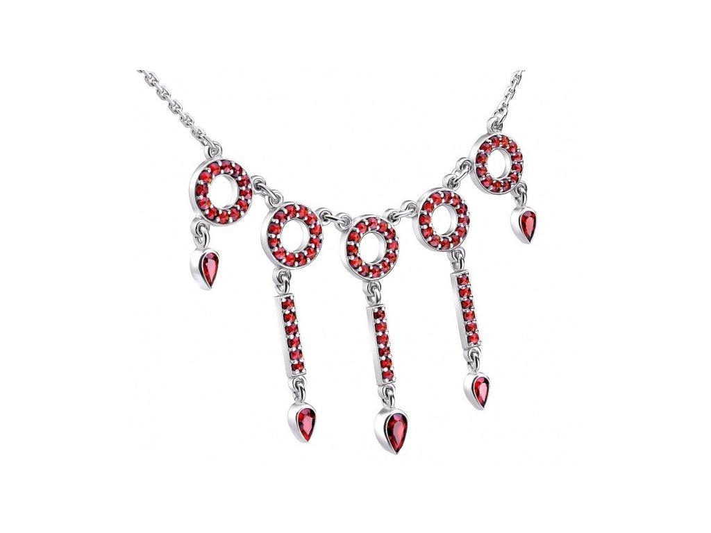 Český granát  Luxusní náhrdelník 8