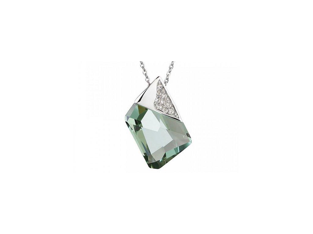 Přívěsek z broušeného skla Magique ve světle zelené barvě od firmy Preciosa