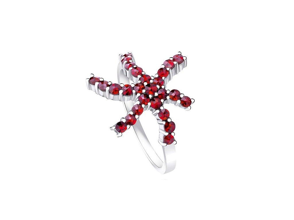 Český granát  Luxusní prsten 7