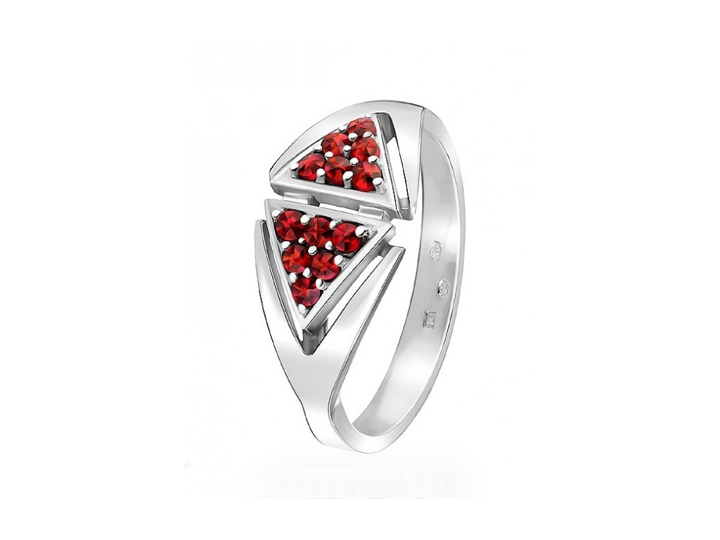 Český granát  Luxusní prsten 6
