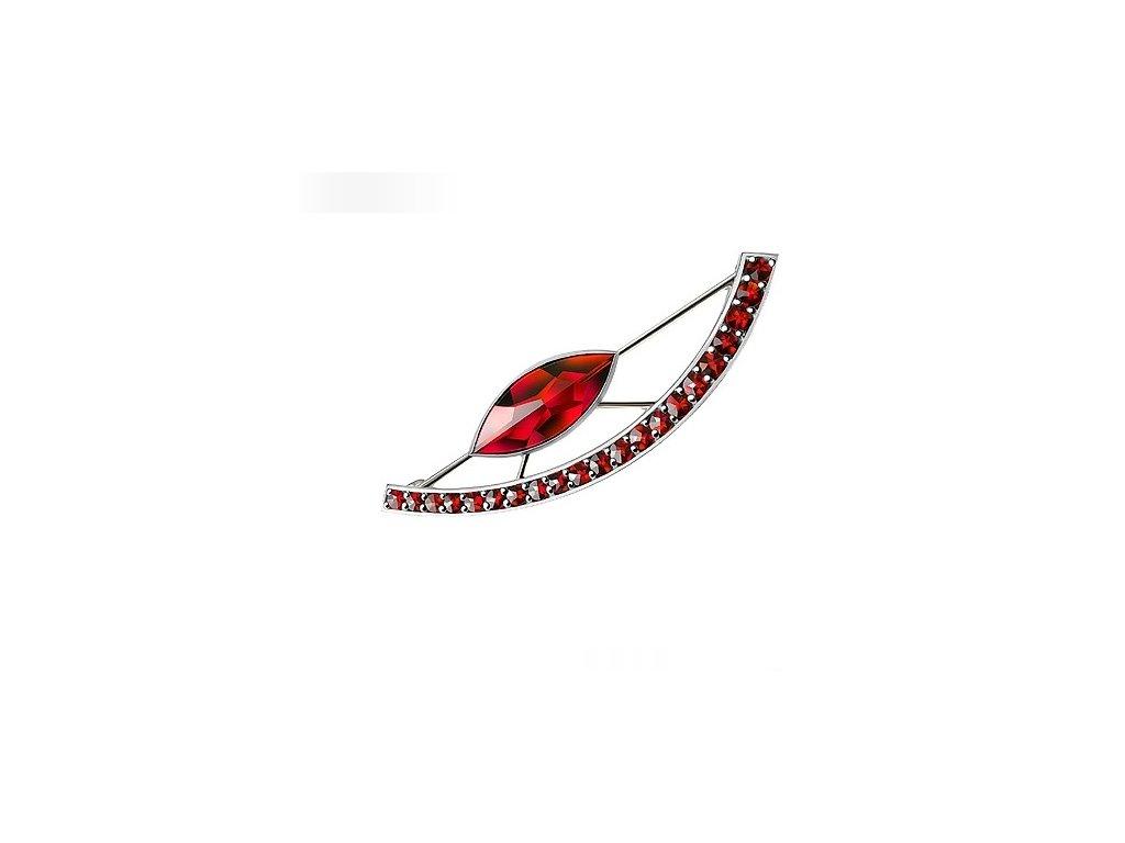 Český granát  Luxusní brož 5