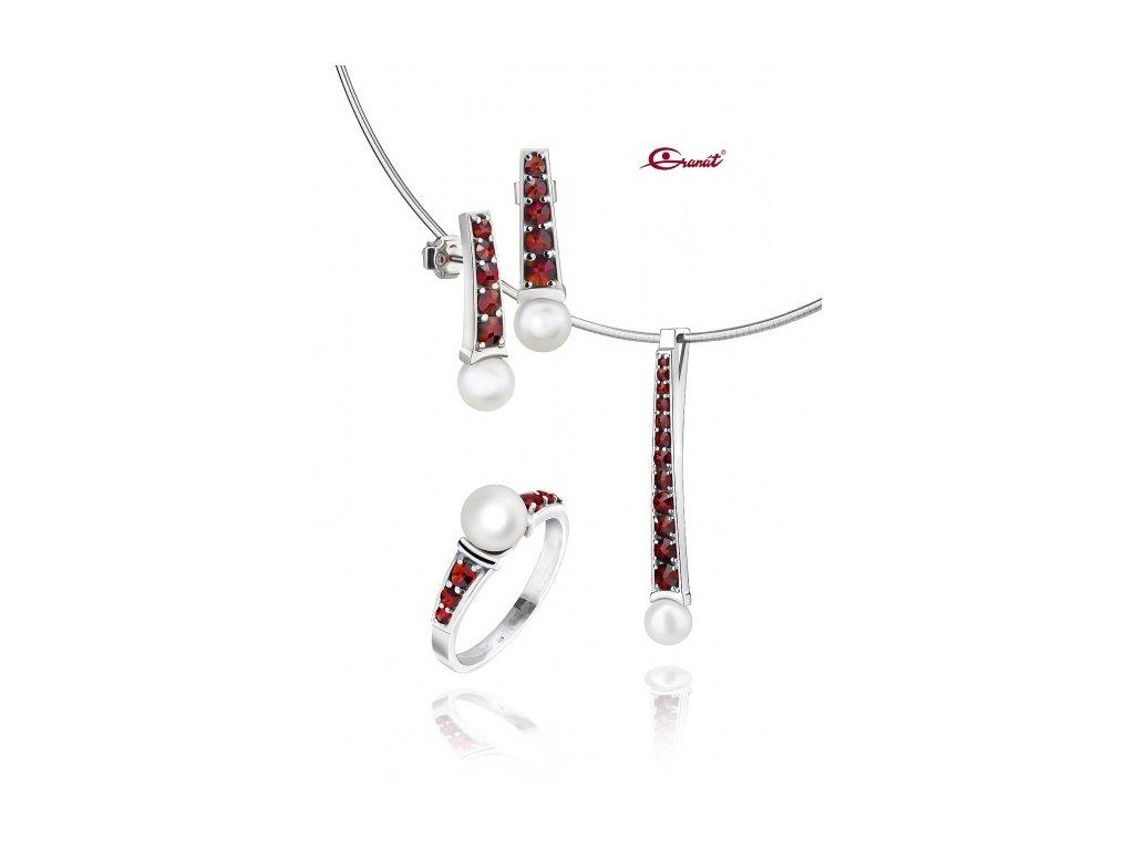 Český granát  Luxusní souprava šperků 15