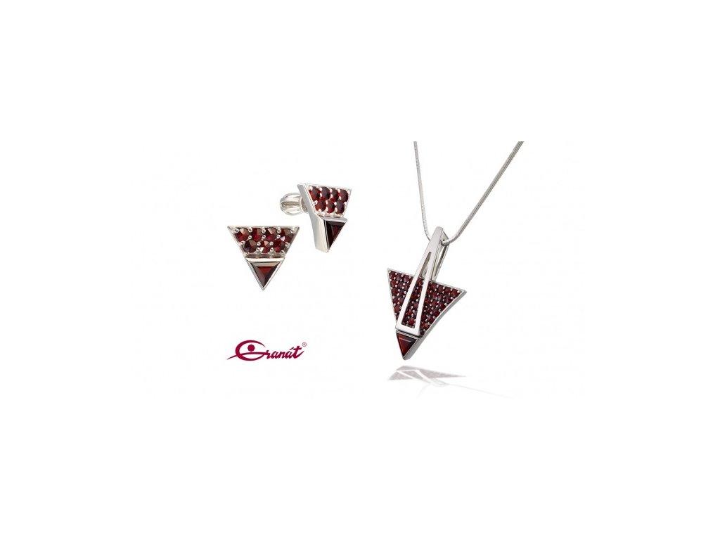 Český granát  Luxusní souprava šperků 30
