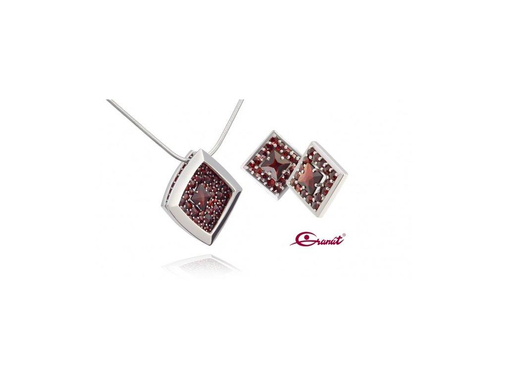 Český granát  Luxusní souprava šperků 29