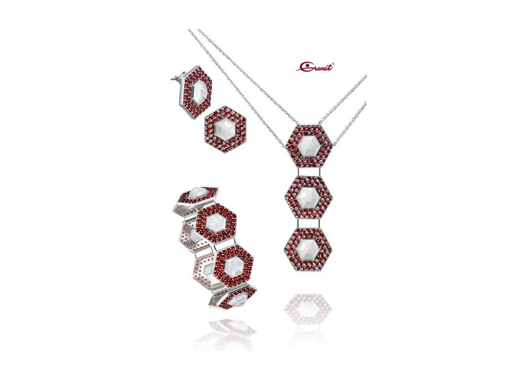 Český granát  Luxusní souprava šperků 23