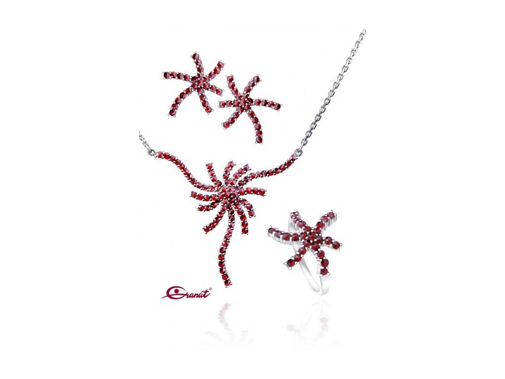 Český granát  Luxusní souprava šperků 20