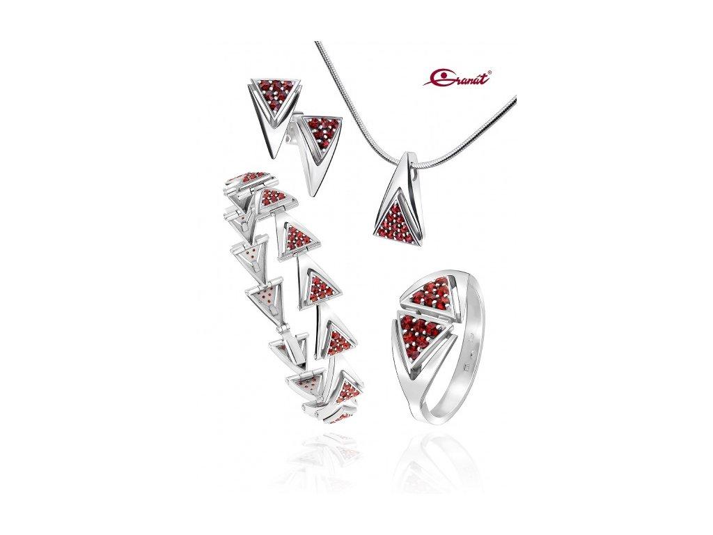 Český granát  Luxusní souprava šperků 31