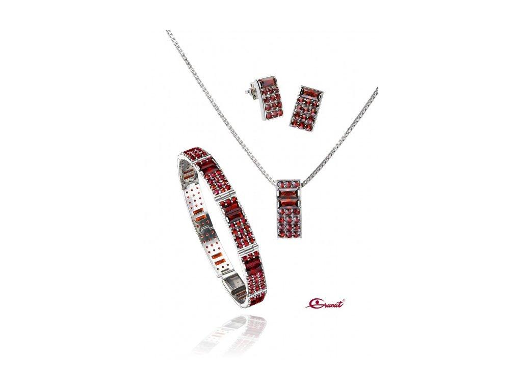 Český granát  Luxusní souprava šperků 19