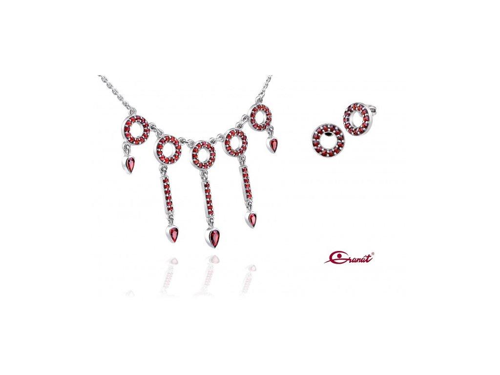 Český granát  Luxusní souprava šperků 17