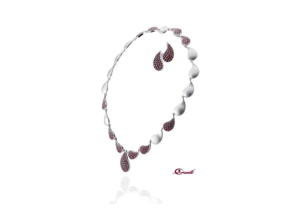 Český granát  Luxusní souprava šperků 16