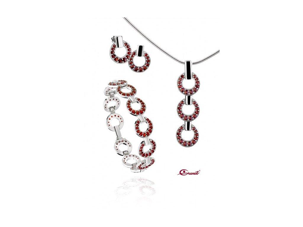 Český granát  Luxusní souprava šperků 18