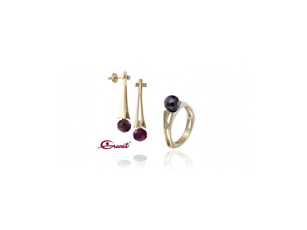 Český granát  Luxusní souprava šperků 14