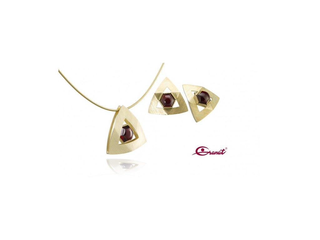 Český granát  Luxusní souprava šperků 27
