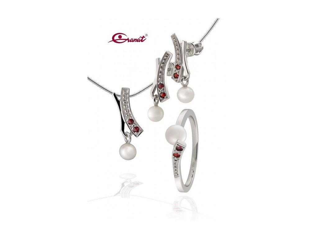 Český granát  Luxusní souprava šperků 13