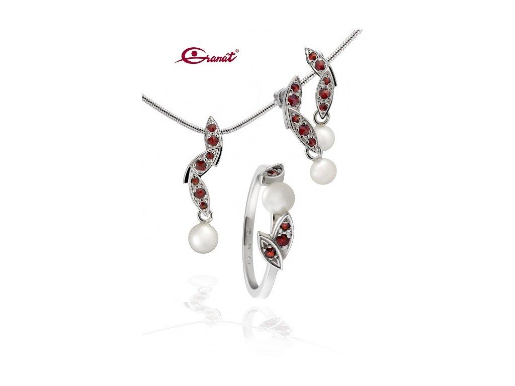 Český granát  Luxusní souprava šperků 12