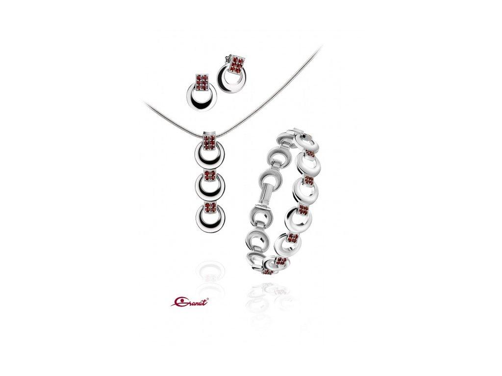 Český granát  Luxusní souprava šperků 10