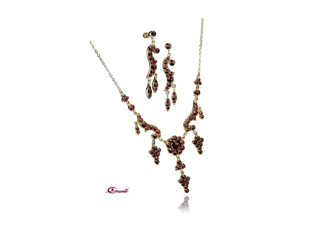 Český granát  Luxusní souprava šperků 9
