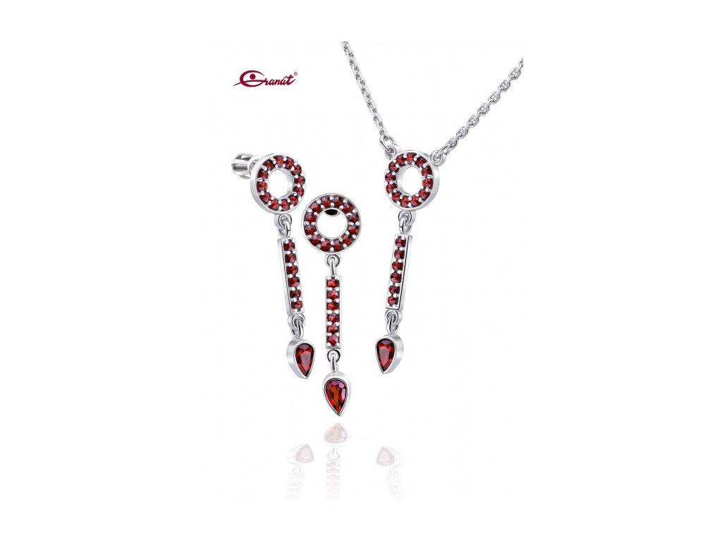 Český granát  Luxusní souprava šperků 8