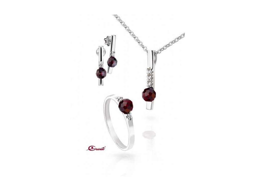 Český granát  Luxusní souprava šperků 5