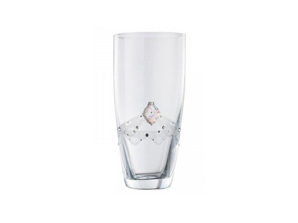 Skleněná váza z broušeného křišťálu Sklo Bohemia - Křišťálová jemnost