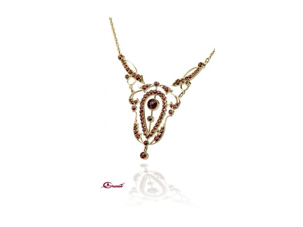 Český granát  Luxusní náhrdelník 6