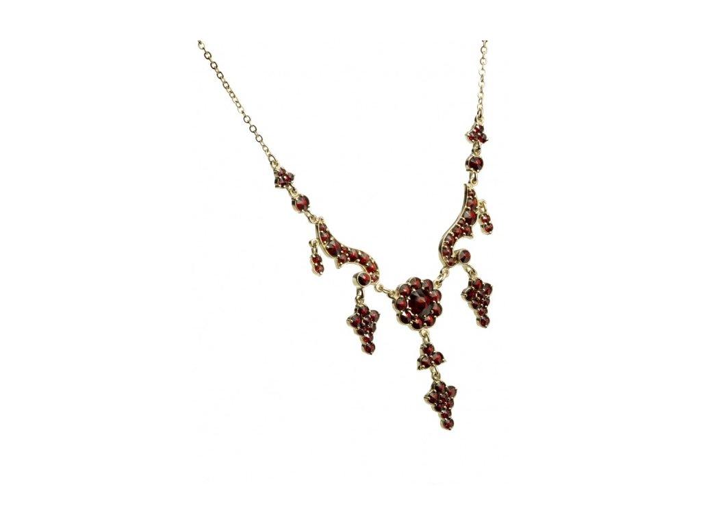 Český granát  Luxusní náhrdelník 5