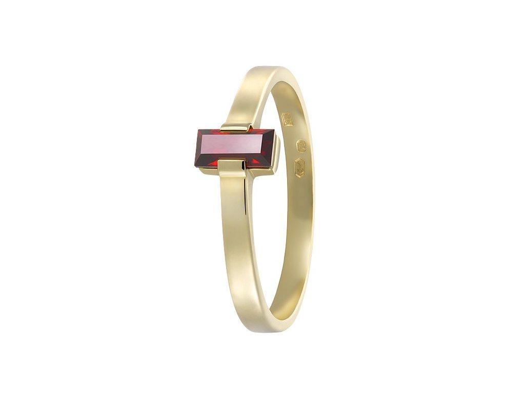 Český granát  Luxusní prsten 4