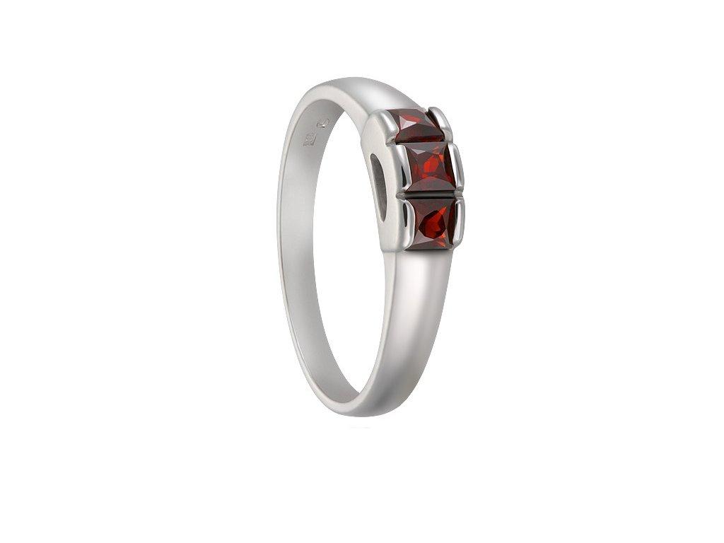 Český granát  Luxusní prsten 3