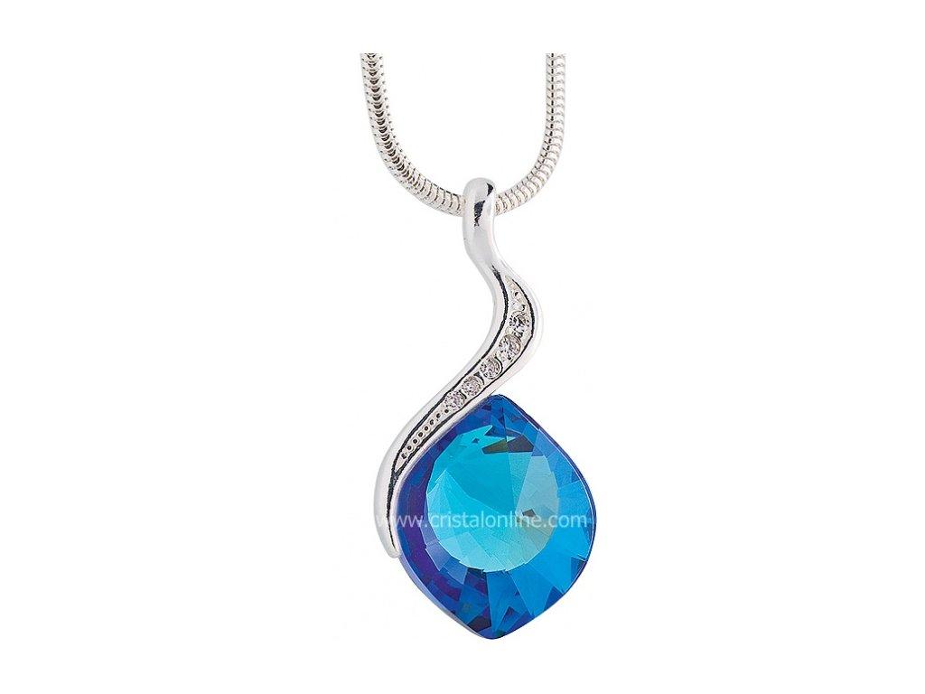 Přívěsek z broušeného skla Butterfly Dream v modré barvě od firmy Preciosa