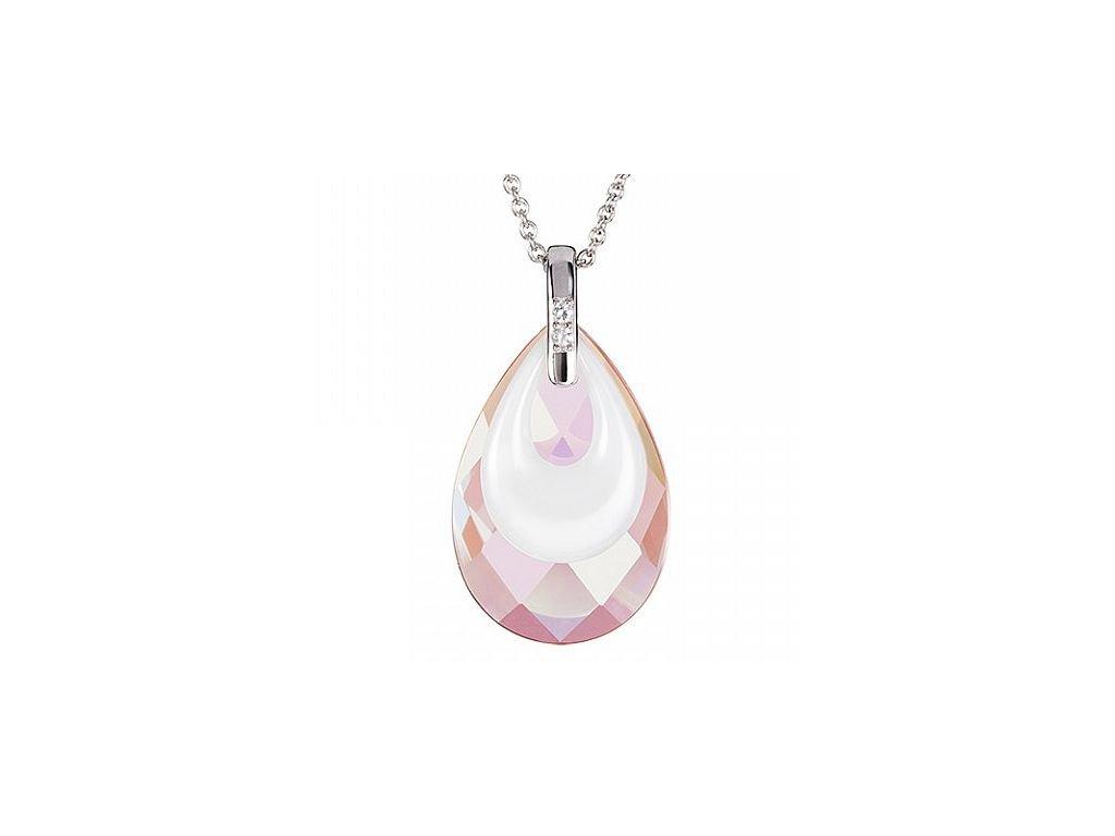 Stříbrný přívěsek Touch of Elegance v růžové barvě od firmy Preciosa