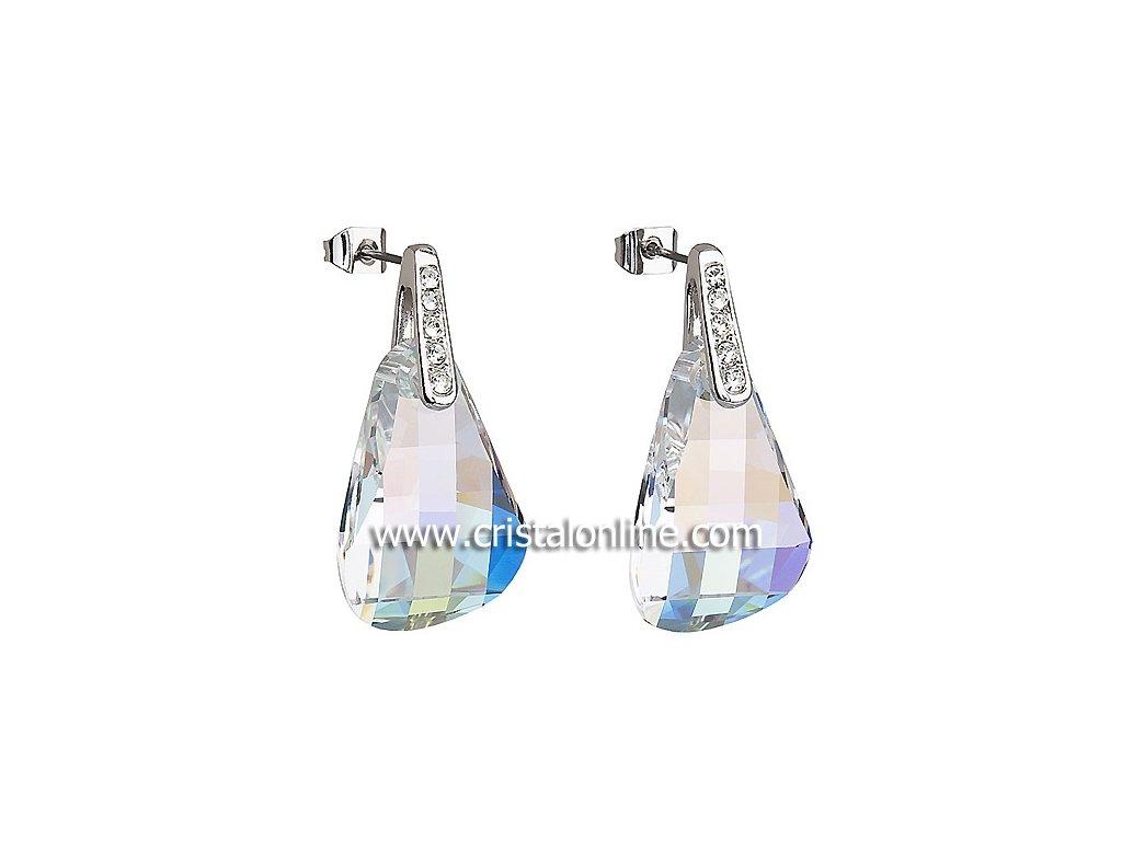 Náušnice z broušeného skla Talya v duhové barvě od firmy Preciosa