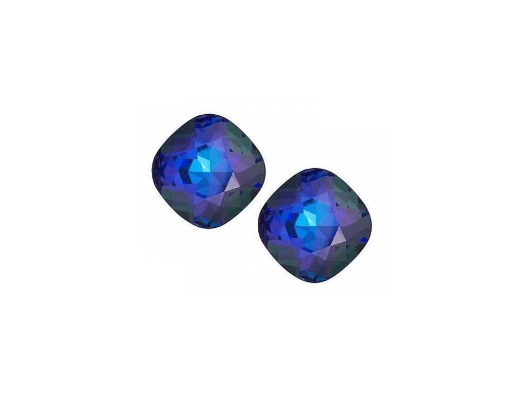 Stříbrné náušnice Brilliant Rose v modré barvě od firmy Preciosa