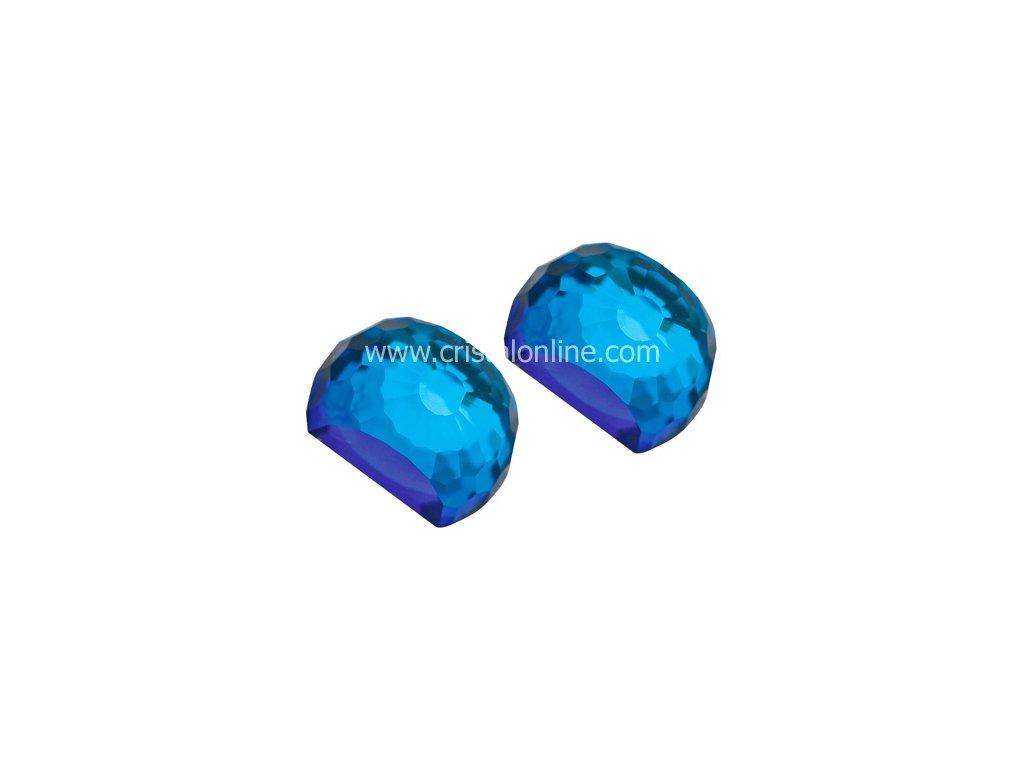 Preciosa  Broušený křišťál  Náušnice Miltonia  Bermuda Blue