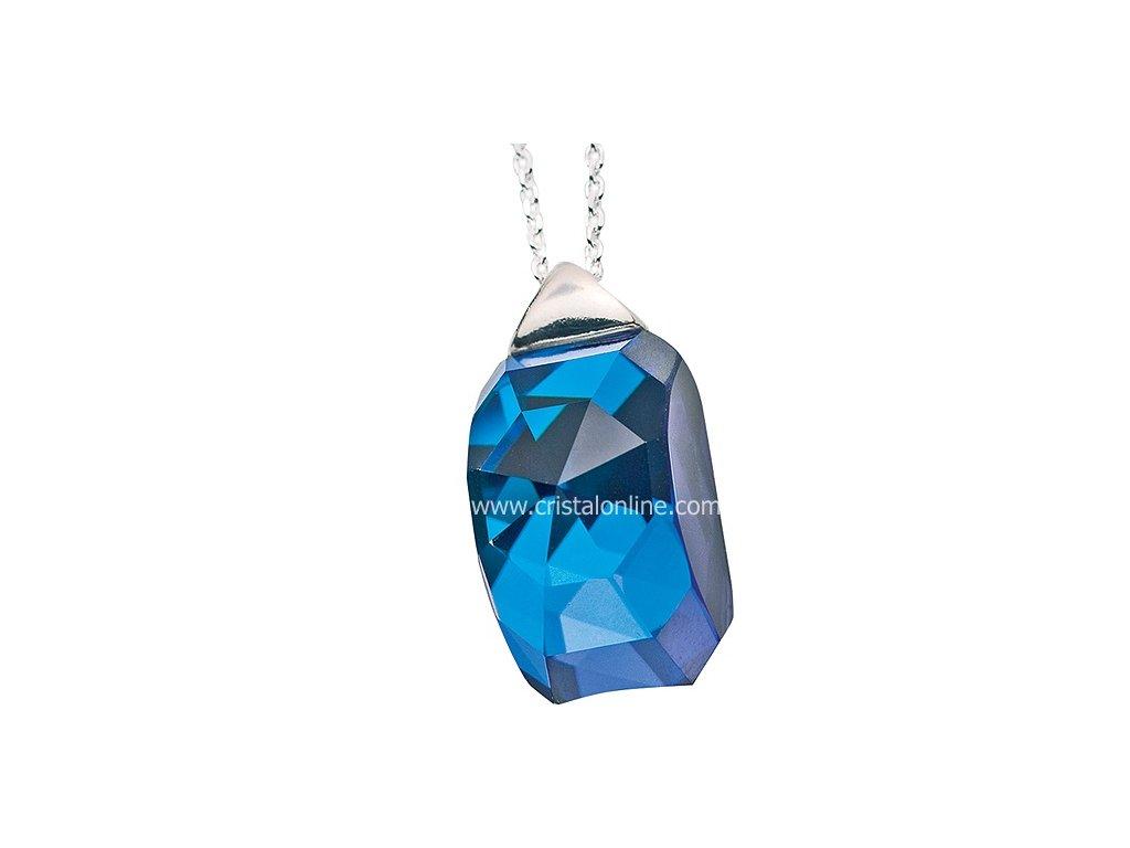 Preciosa  Broušený křišťál  Přívěsek Miltonia  Bermuda Blue