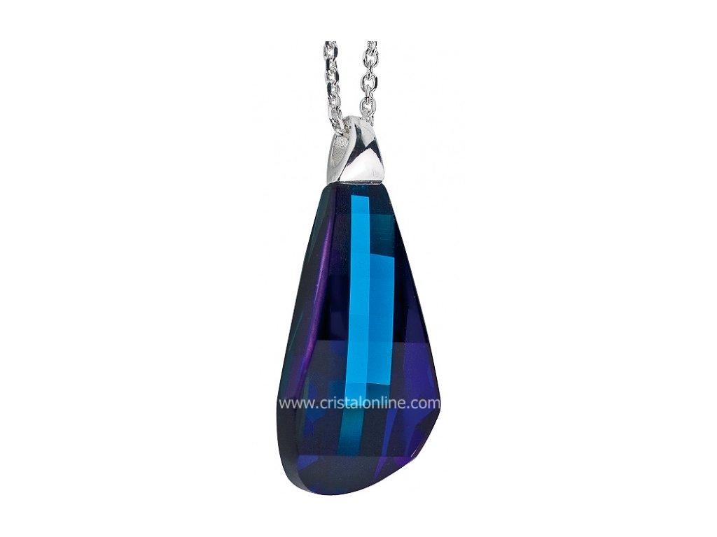 Preciosa  Broušený křišťál  Přívěsek Pleione  Bermuda Blue