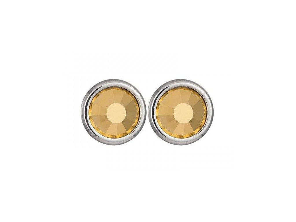 Stříbrné náušnice Magical Spark ve zlaté barvě od firmy Preciosa