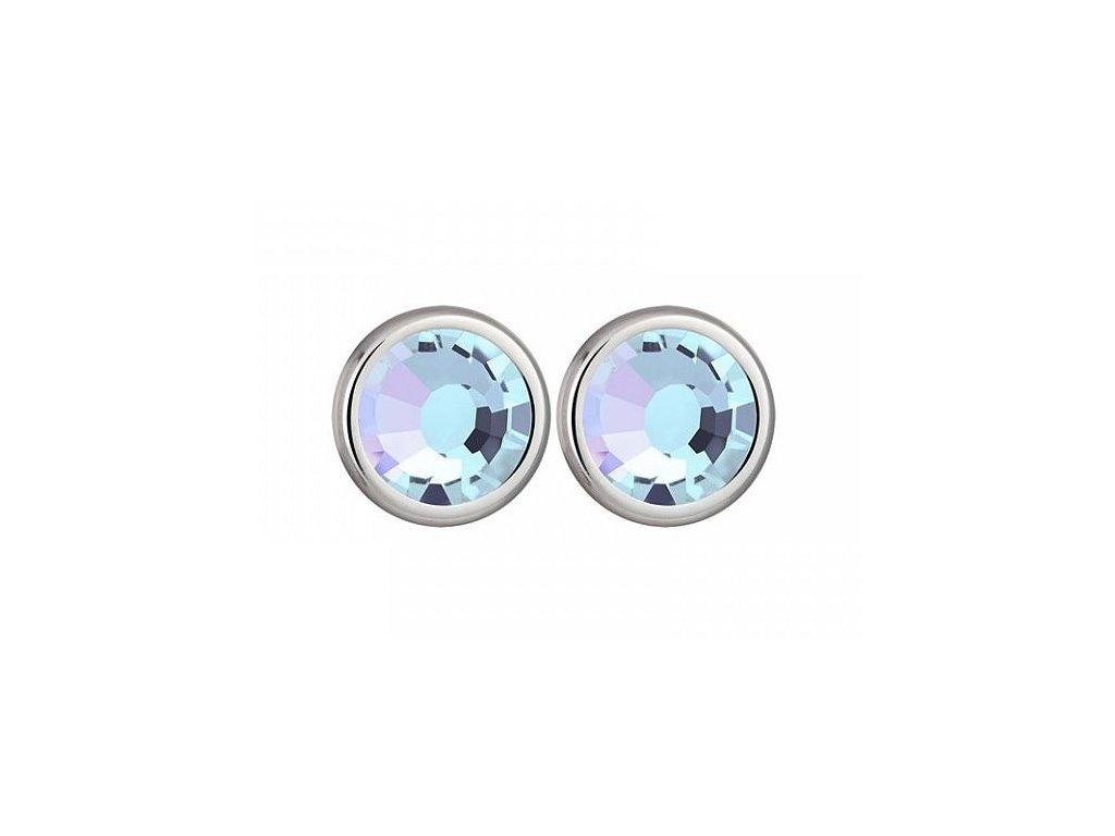 Stříbrné náušnice Magical Spark v barvě Vitrail Light od firmy Preciosa