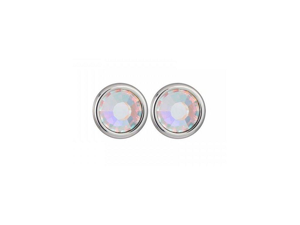 Stříbrné náušnice Magical Spark v odstínech duhy Crystal AB od firmy Preciosa