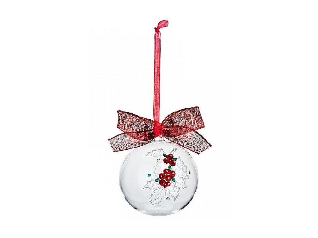 Vánoční dekorace z broušeného křišťálu Sklo Bohemia - Cesmína