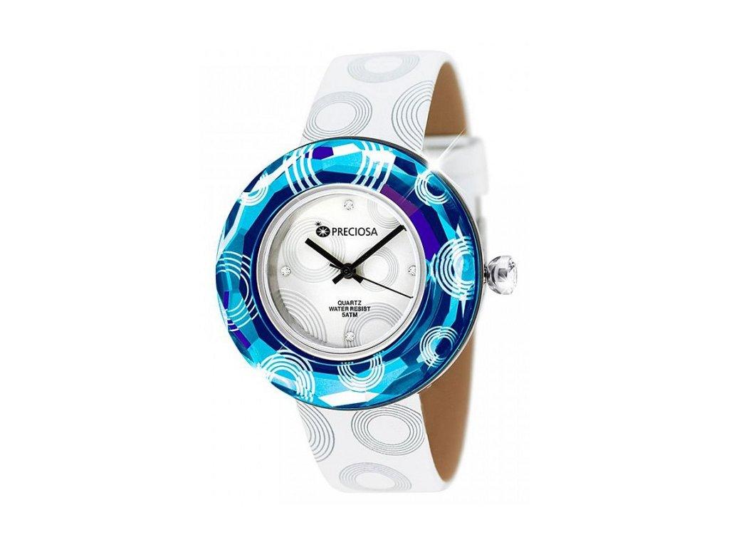 Dámské hodinky Preciosa Crystal Time Modern II v modré barvě