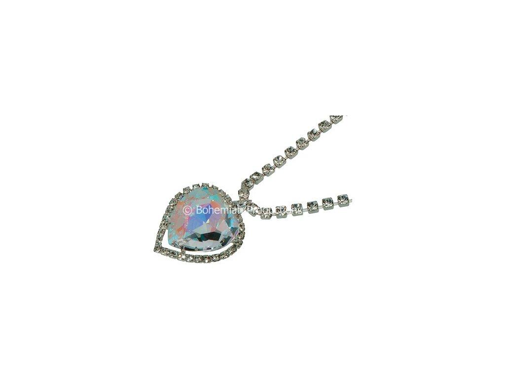 Náhrdelník Srdce oceánu - Aurora Borealis (AB)
