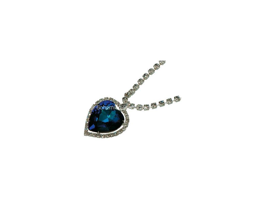 Náhrdelník Srdce oceánu - Bermuda Blue