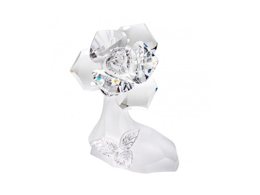 Skleněná figurka z broušeného křišťálu Sklo Bohemia - Bílá růže