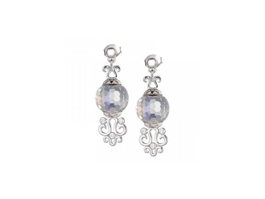 Stříbrné náušnice Romantic Gem v odstínech duhy Crystal AB od firmy Preciosa
