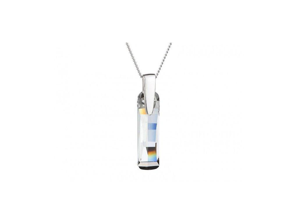 Přívěsek z broušeného skla Shining Strip v křišťálové barvě od firmy Preciosa