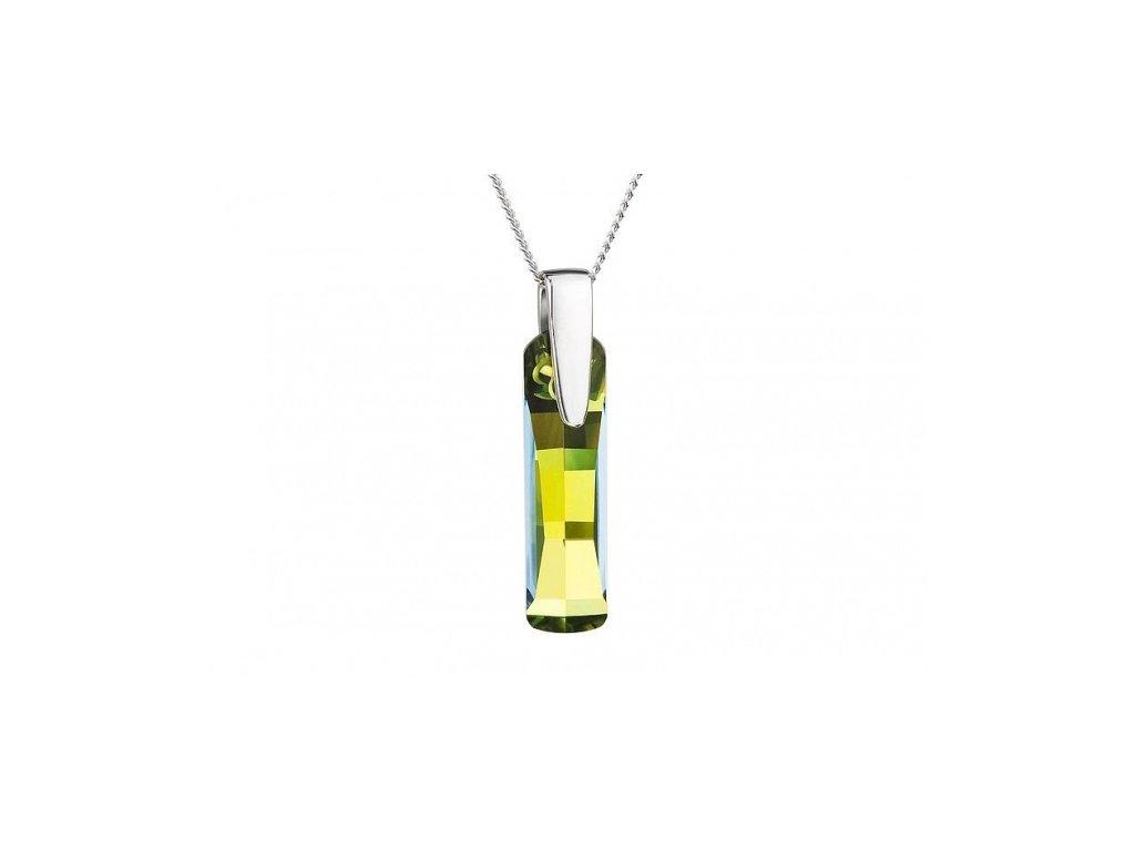 Přívěsek z broušeného skla Shining Strip v zelené barvě od firmy Preciosa