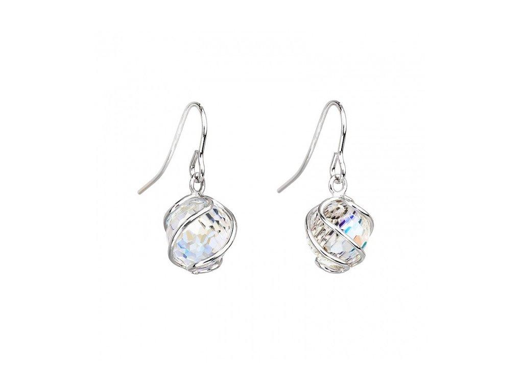 Náušnice z broušeného skla Romantic Beads v odstínech duhy od firmy Preciosa