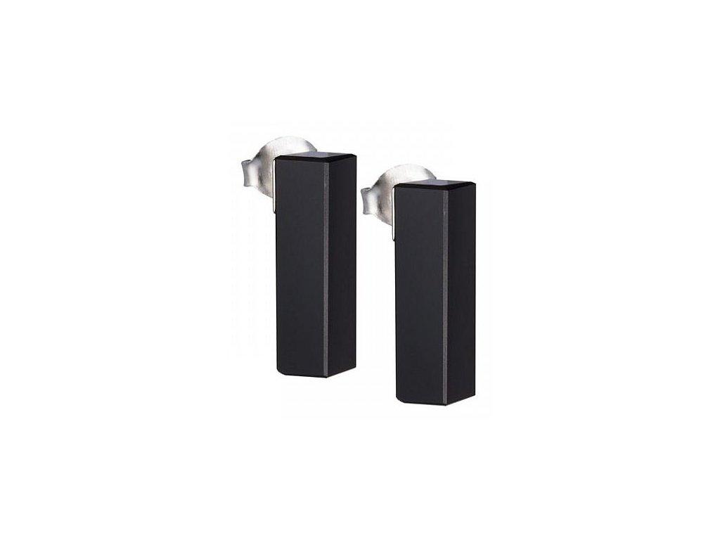 Stříbrné náušnice Fresh Style v černé barvě od firmy Preciosa