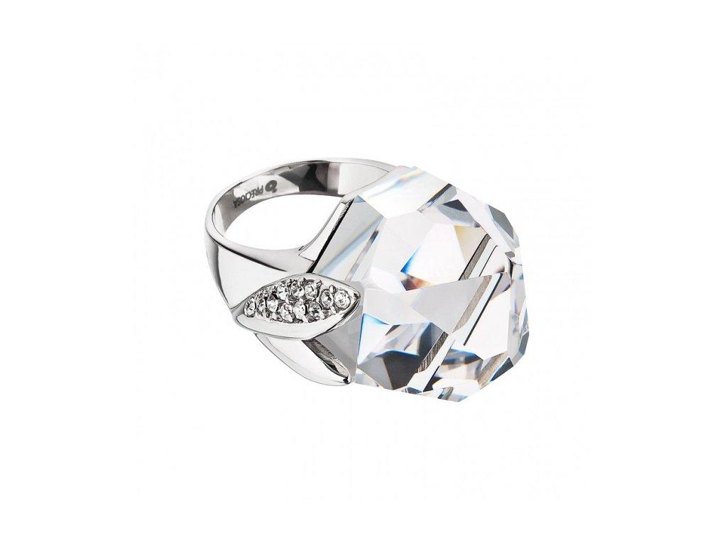 Prsten z broušeného skla Macy v křišťálové barvě od firmy Preciosa