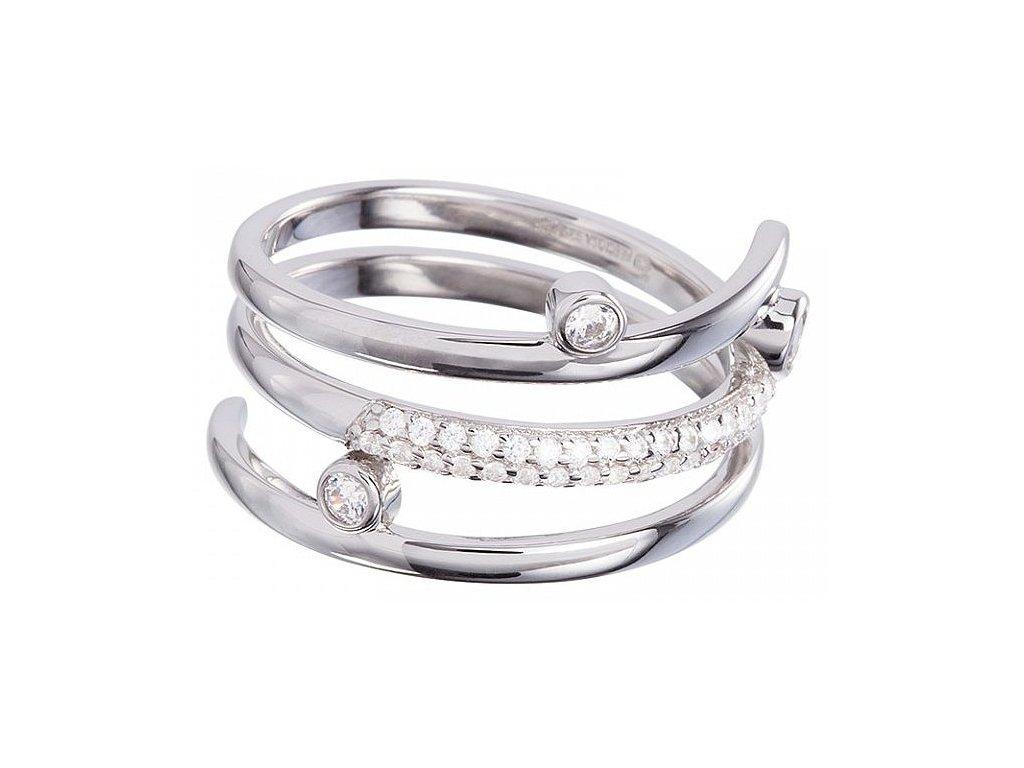 Stříbrný prsten Infinite v křišťálové barvě od firmy Preciosa